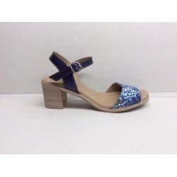 Sandalia mujer azul...