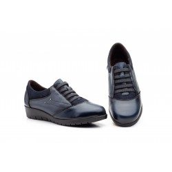 Zapatos Mujer Piel Marino...