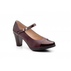 Zapato Mujer Piel Burdeos...