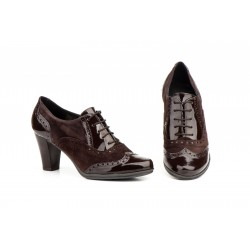 Zapatos Mujer Piel Marrón...