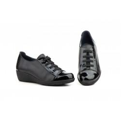Zapatos Mujer Piel Negro...