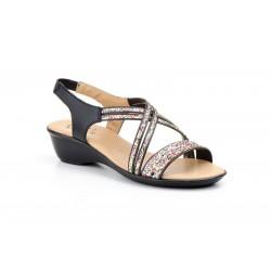 Sandalia glitter de mujer...