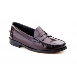 Zapatos Hombre Piel Burdeos...